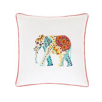 Cushion with elephant motif