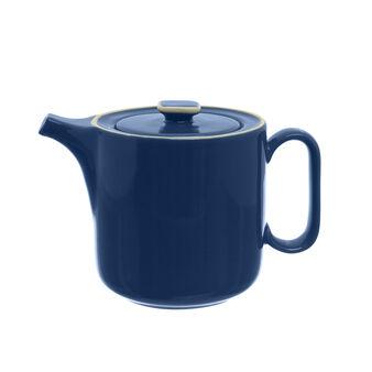 Stoneware teapot with edging
