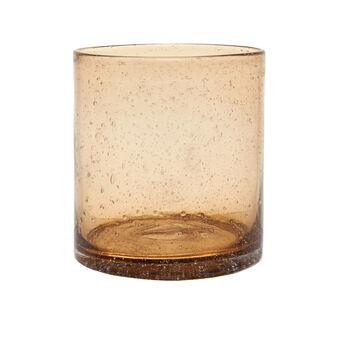 Bubble-effect glass vase