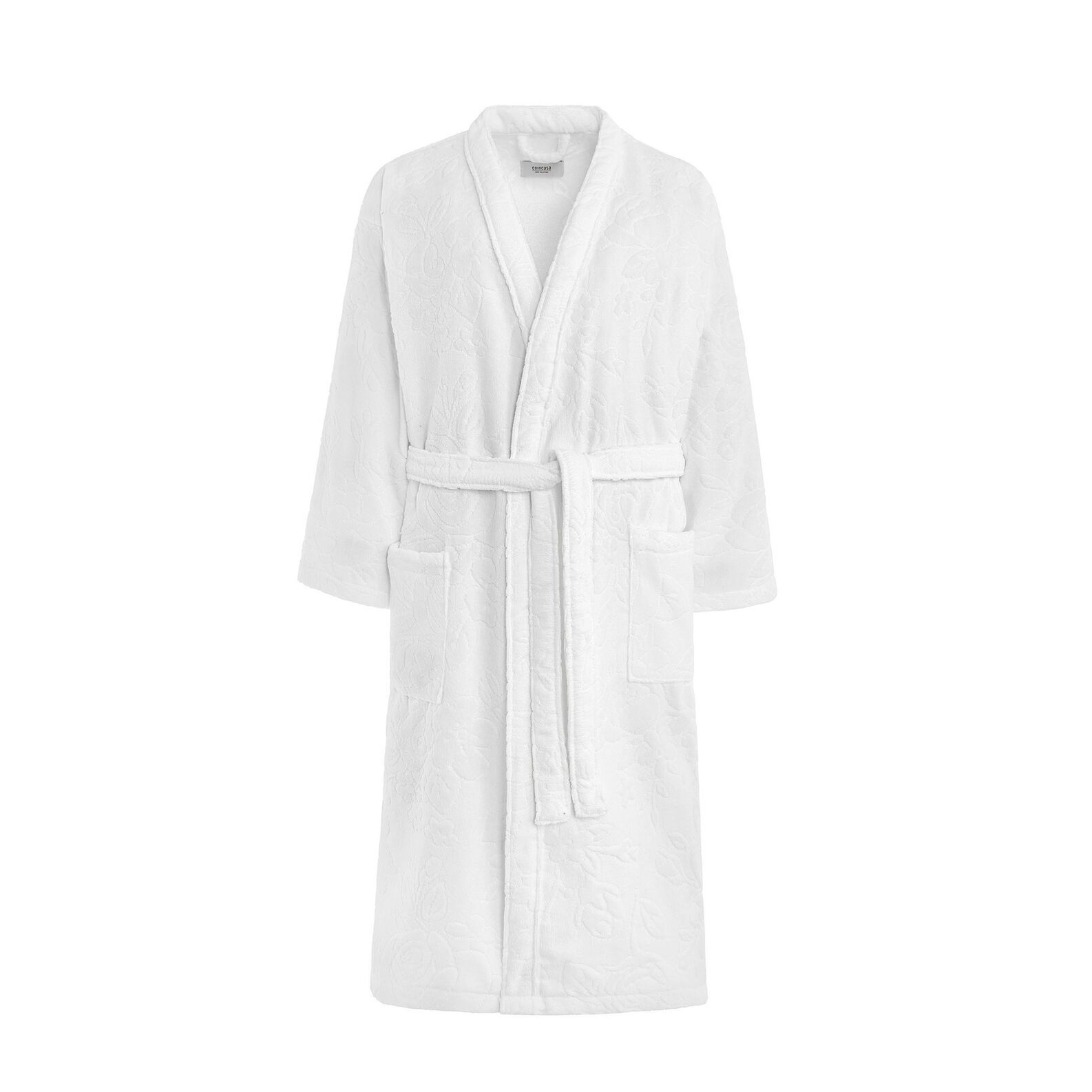 100% cotton bathrobe with floral design