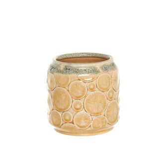 Vaso in ceramica con decoro in rilievo
