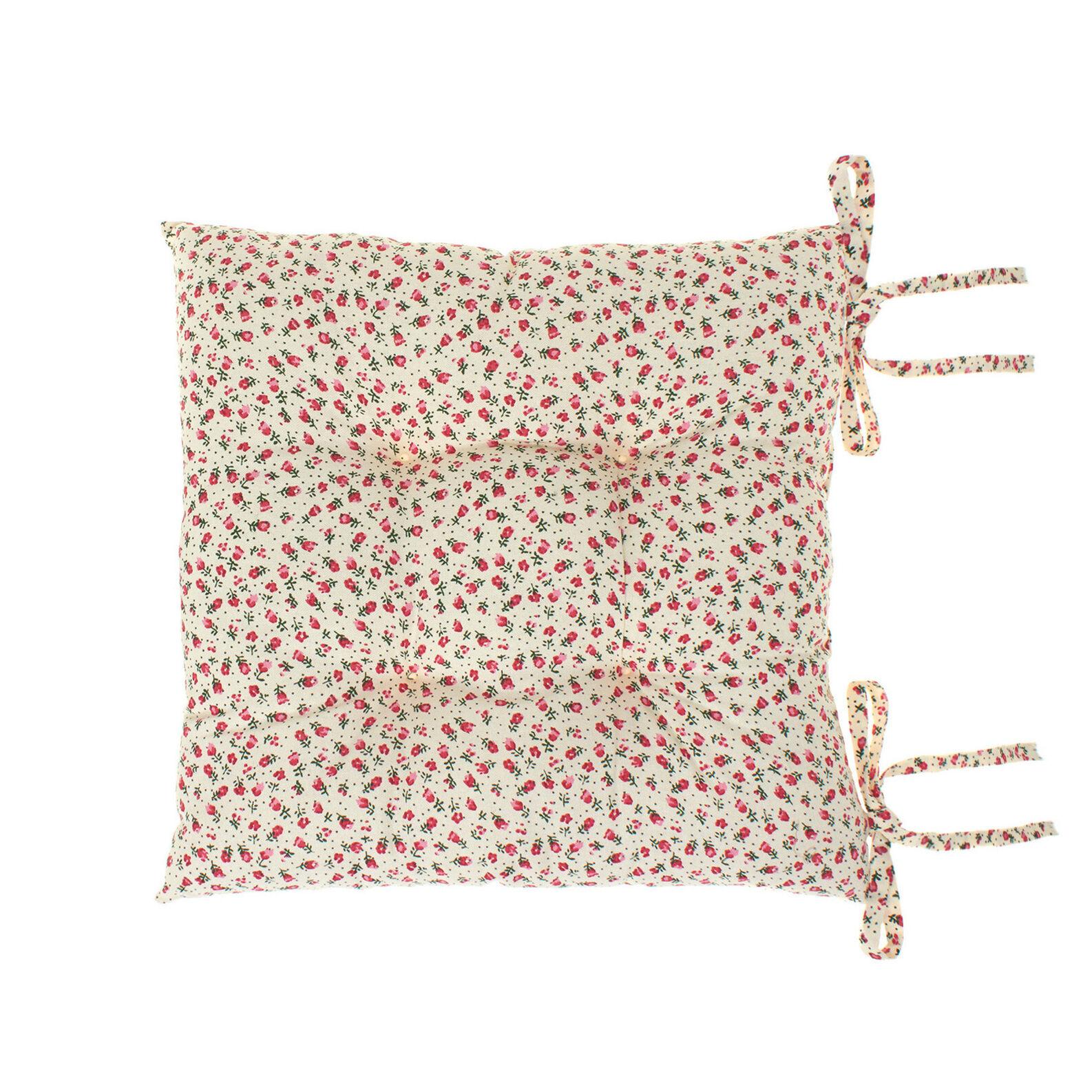 Cuscino da sedia puro cotone fiorellini