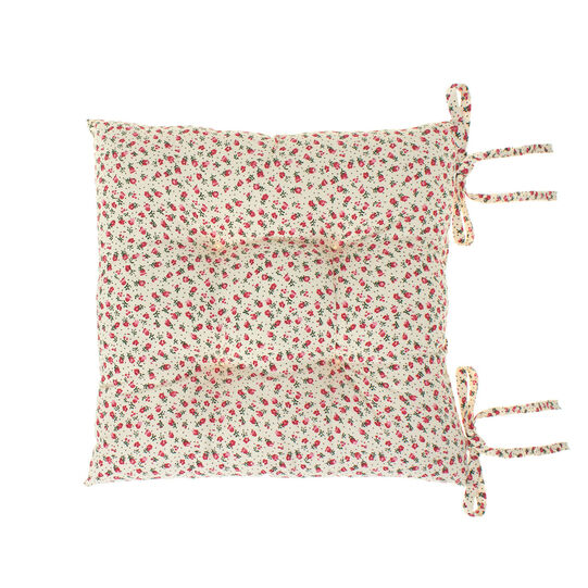 100% cotton seat pad with tiny flowers
