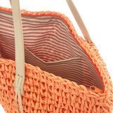 Woven raffia beach bag