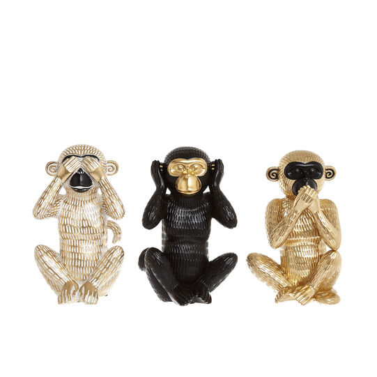 Hand-finished decorative monkeys