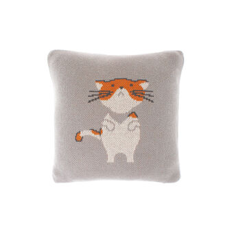 Cotton cushion with cat