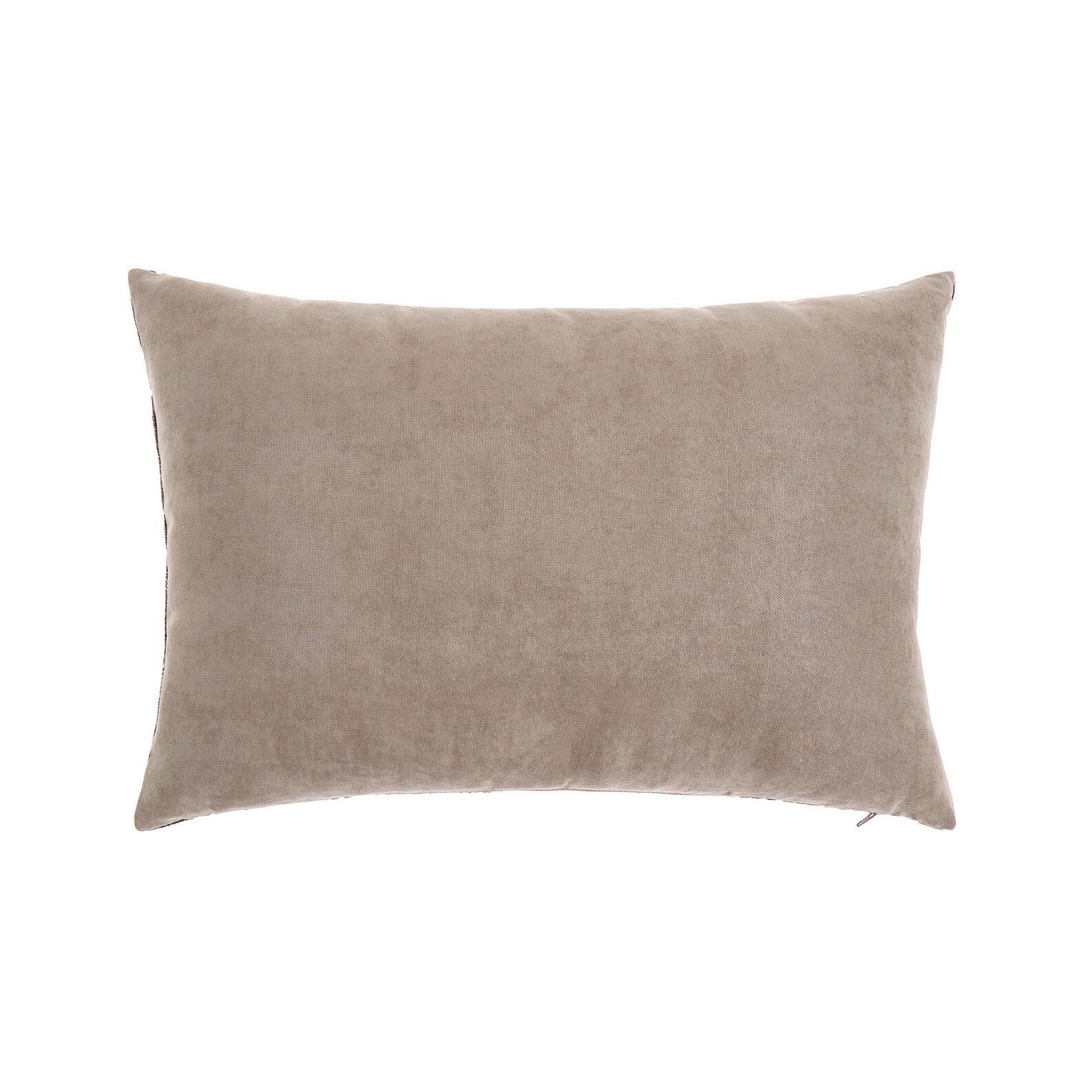 Cushion in faded devoré velvet 35x55cm