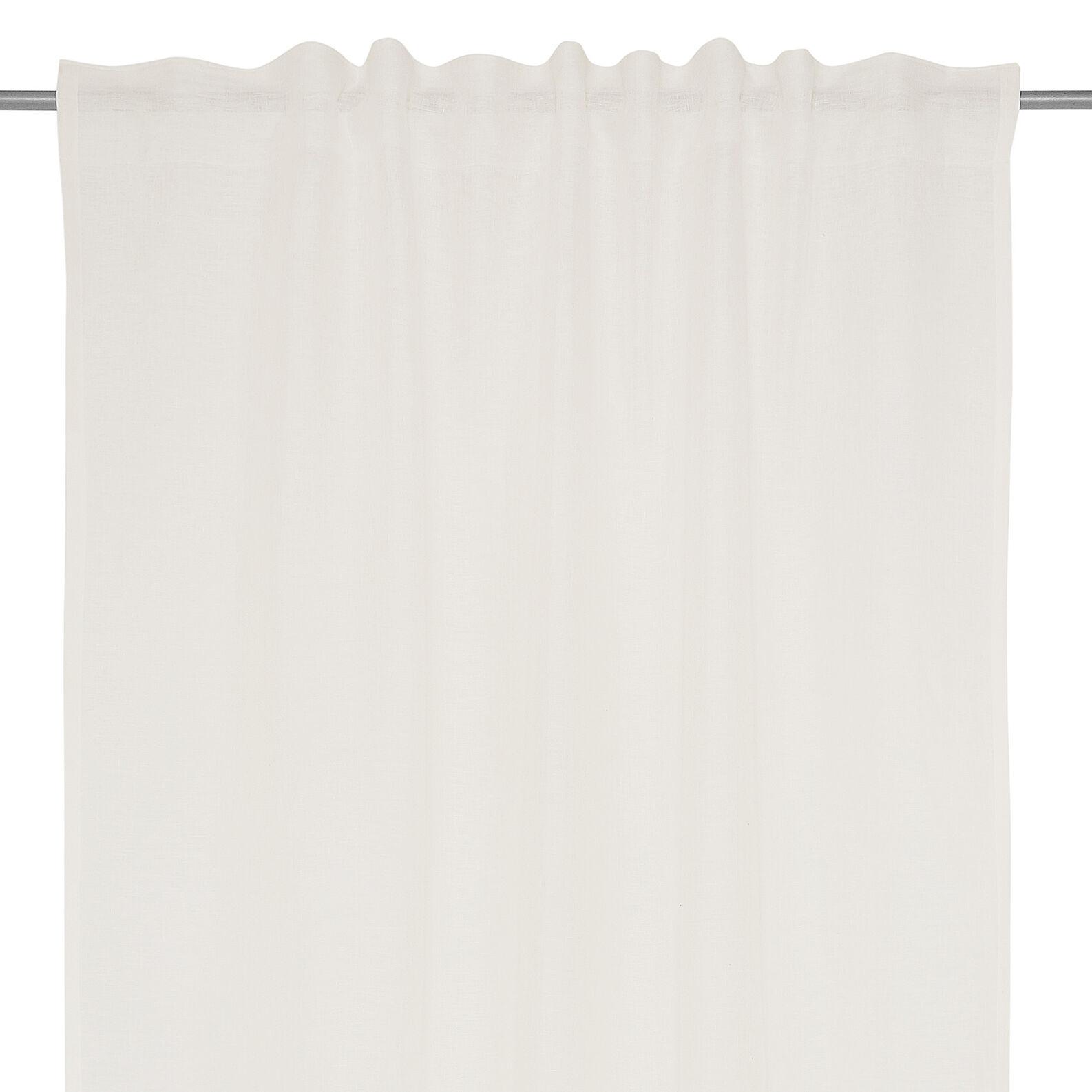 Solid colour 100% linen curtain