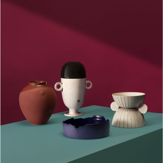 Vase in ceramics of Grottaglie by Roberto Sironi