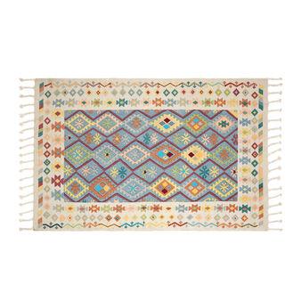 Hand-printed kilim rug