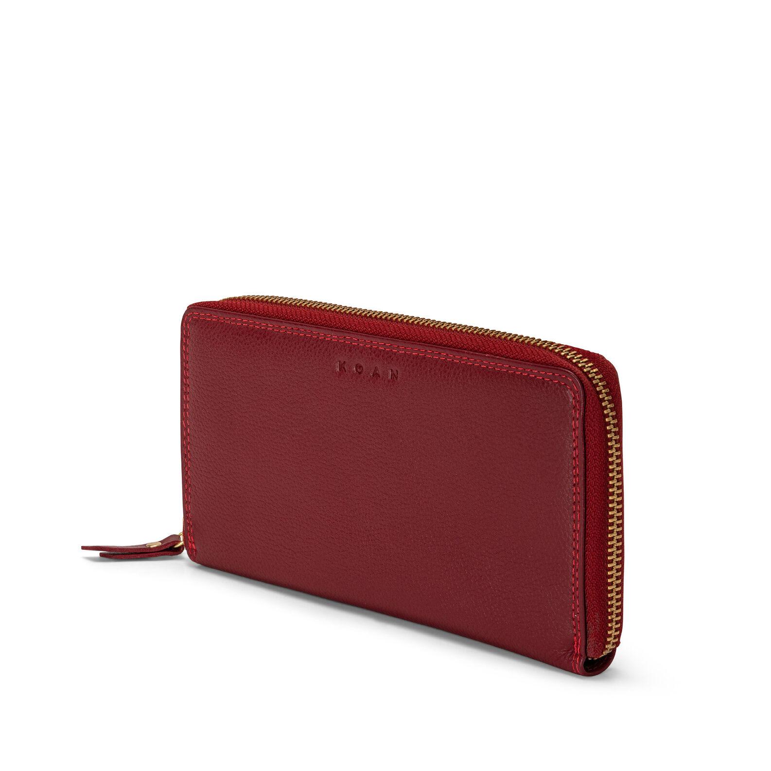Koan wallet with zip in genuine leather