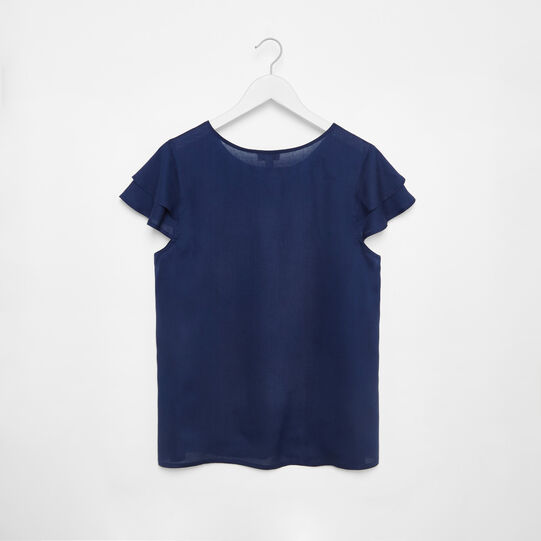 Viscose blouse with ruffles