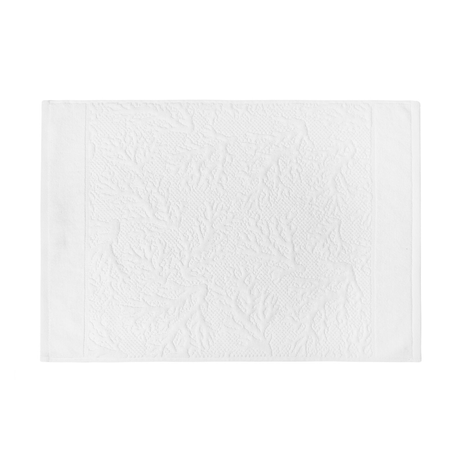 100% cotton jacquard towel with coral motif