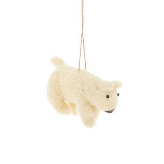 Addobbo orso bianco fatto a mano