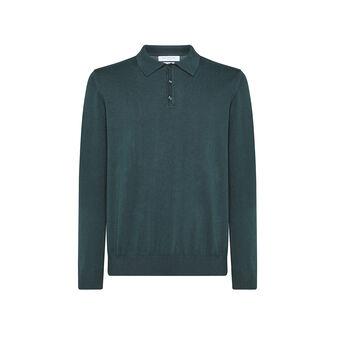 Luca D'Altieri solid colour 100% cotton polo shirt