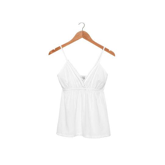 Ultra-lightweight top in 100% cotton