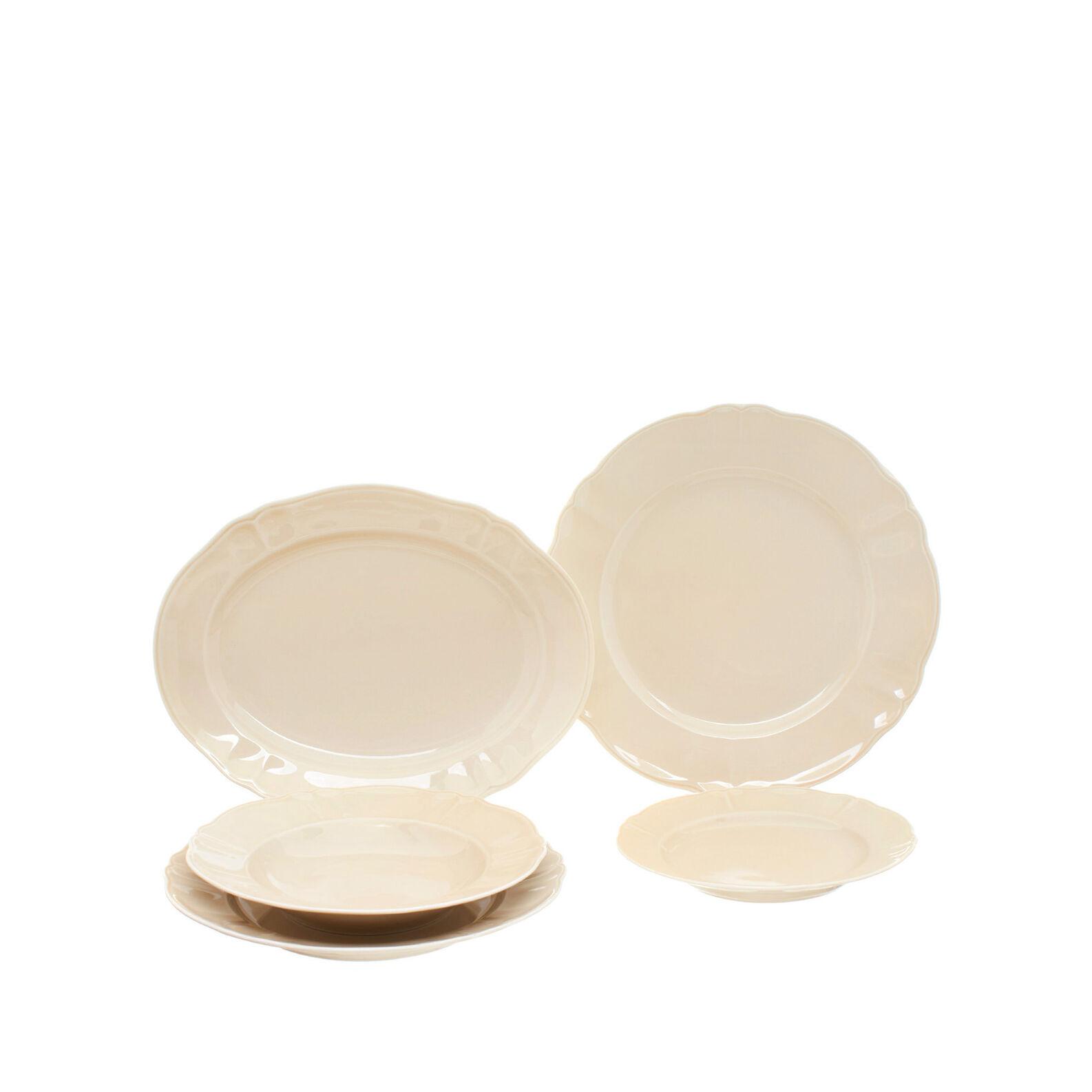 Romantic glazed china oval serving platter.