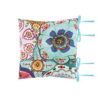 100% cotton seat pad with abstract print
