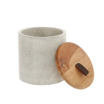 Handmade wood and cement box
