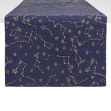 100% cotton table runner with galaxy embroidery