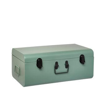Coloured metal decorative suitcase