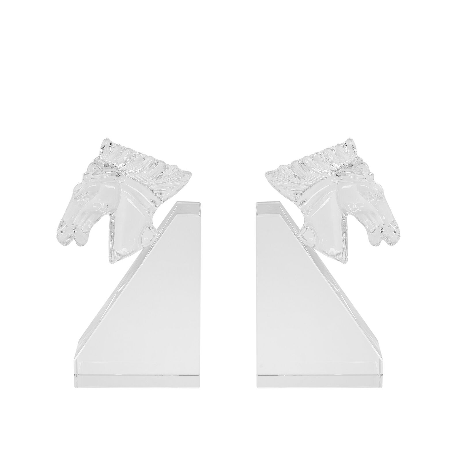 Set of 2 bookends in crystal