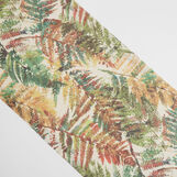 Recycled fabric table runner with fern print