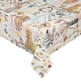100% cotton tablecloth with vases print
