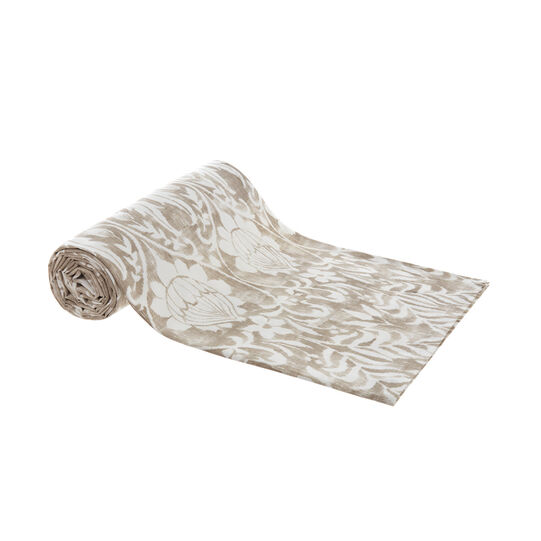 100% cotton throw with ornamental print