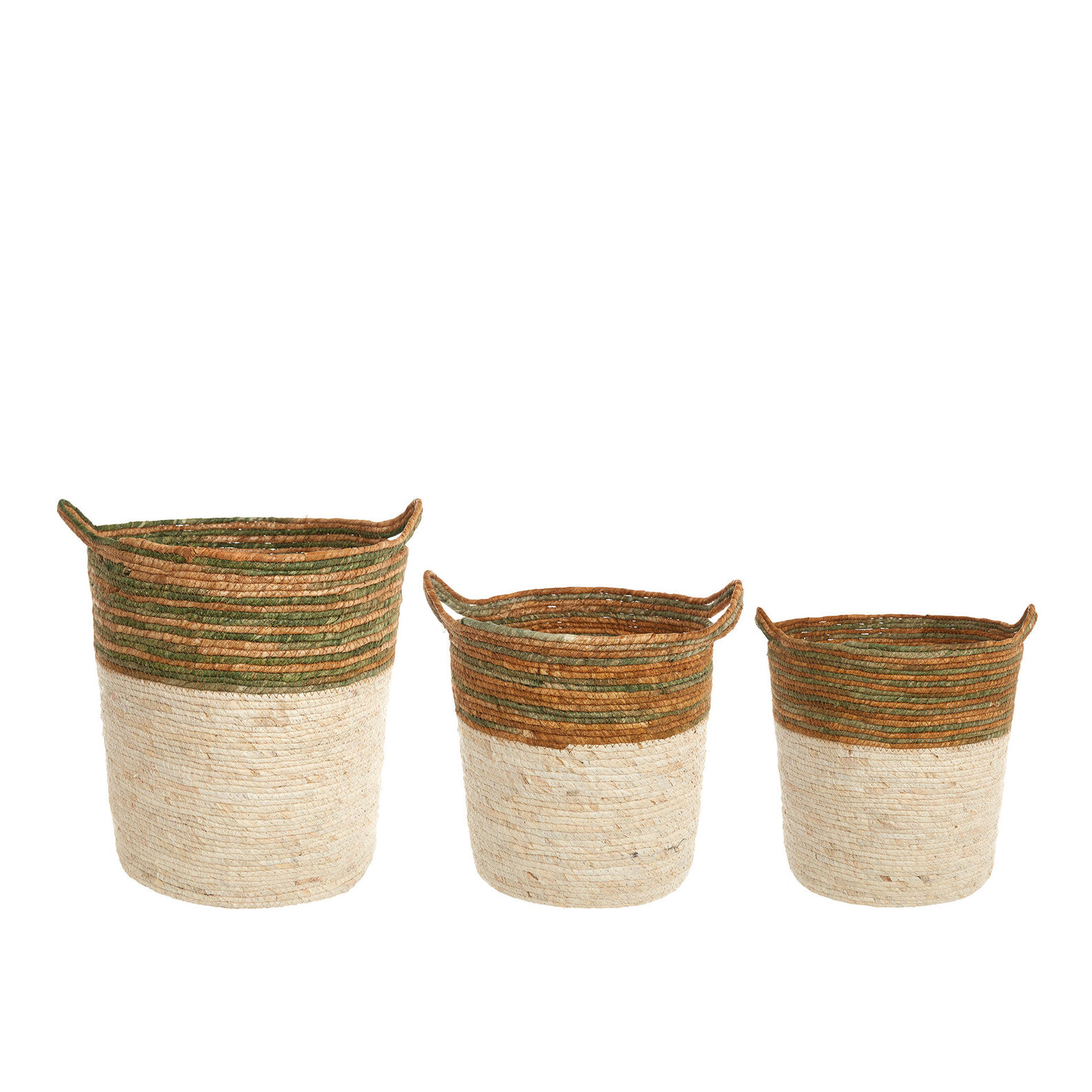 Handwoven corn leaf basket.