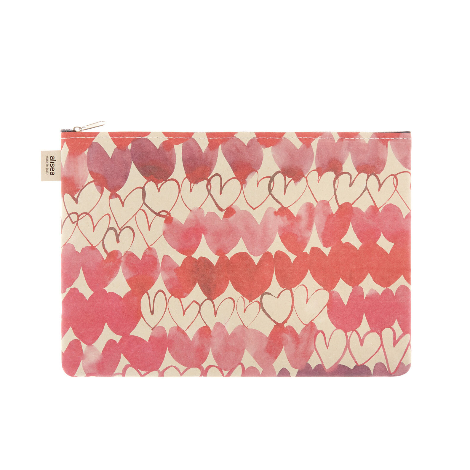 Sandra Jacobs print bonded leather pouch