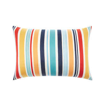 Linen blend cushion with stripes 35x55cm