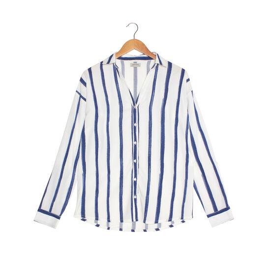 Camicia viscosa a righe