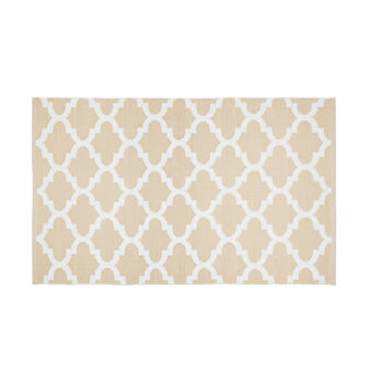 PVC kitchen mat with geometric motif