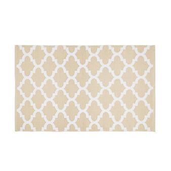 PVC kitchen mat with geometric motif