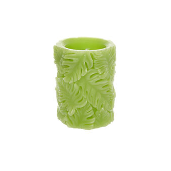 LED candle with leaf intarsia