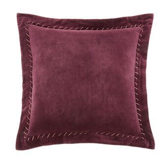 Velvet cushion with quilting 45x45cm