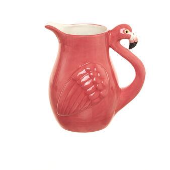 Caraffa ceramica fenicottero