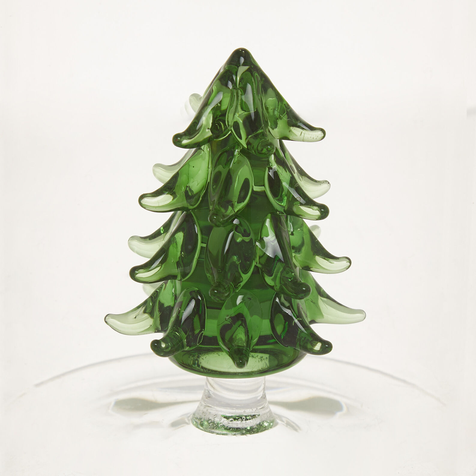 Glass carafe with tree detail