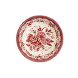 Victoria ceramic salad bowl with floral decoration