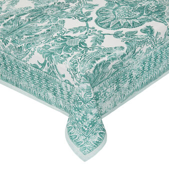 Cotton poplin tablecloth with ornamental print