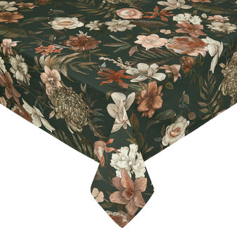 100% cotton European tablecloth with floral print