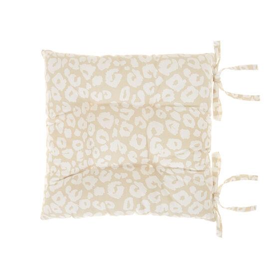 Cuscino da sedia puro cotone stampa maculata