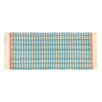 100% cotton kitchen mat with jacquard weave