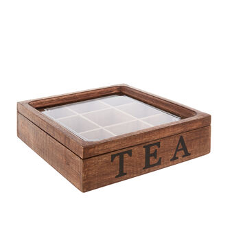 Tea box in legno