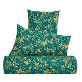Cotton satin pillow case with floral pattern