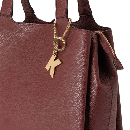 Koan hammered fabric shopping bag