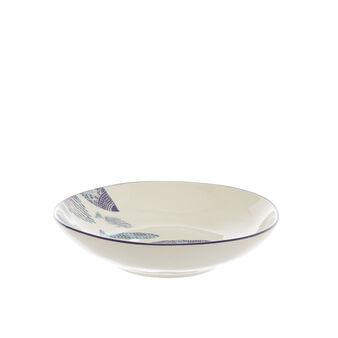 Piatto fondo ceramica pesci