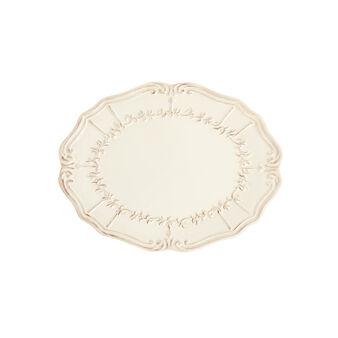 Piatto ovale in ceramica decorata Genny