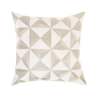 Cushion with geometric design